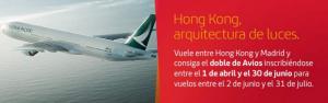 Doble de Avios con Cathay Pacific y nuevas rutas