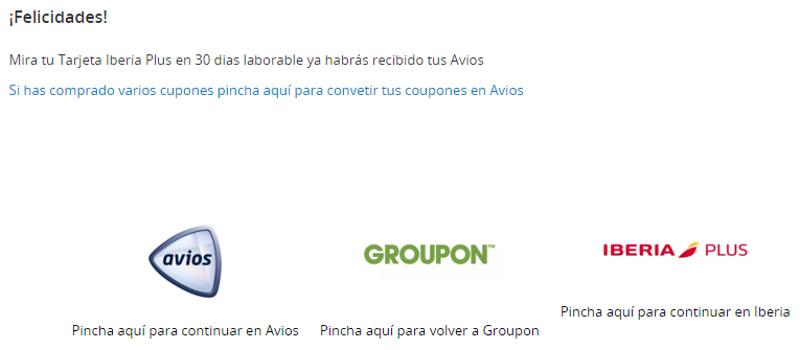 Cómo obtener Avios con Groupon