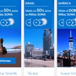 Millas SUMA adicionales con Air Europa, Europcar y NH Hoteles