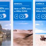 Millas SUMA adicionales con Air Europa y Cepsa