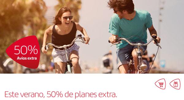 Compra Avios con un 50% adicional