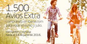 1.500 puntos Avios adicionales al reservar en Iberia.com