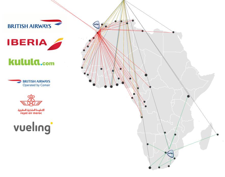 Curiosidades de Avios: conexiones disponibles con Avios a/desde África