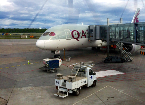 Un Boeing 787-8 Dreamliner de Qatar Airways.