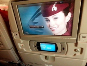Entretenimiento a bordo del B787 de Qatar Airways