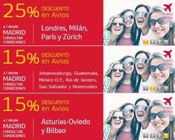 Descuento en Avios con Iberia Plus y Grupo Iberia