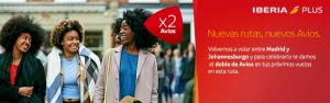 Doble de Avios a Shanghái, Johannesburgo y Grupo Iberia