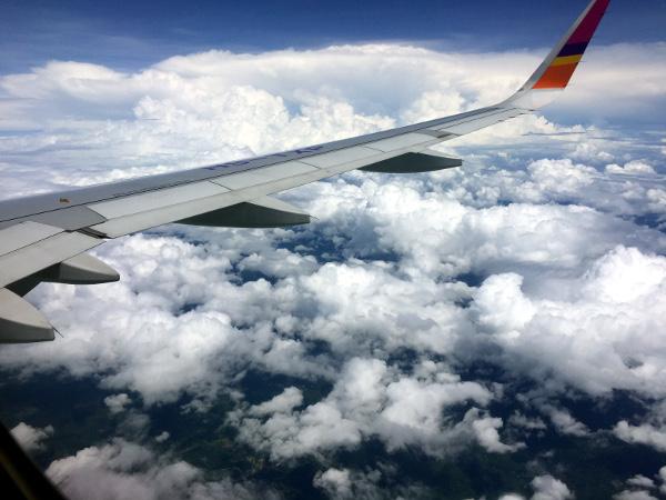 Vista desde el aire: vuelo Thai Smile W·E171