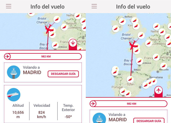Entretenimiento a bordo Immfly: plan de vuelo