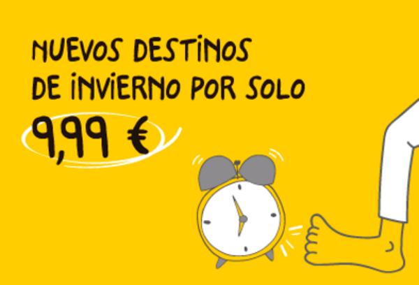 Vuelos por 9.99€ con Vueling