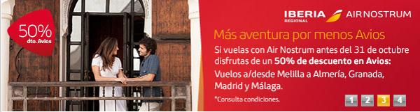 Descuento en Avios con Iberia Express y Air Nostrum