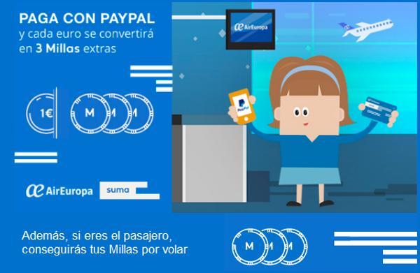 Millas SUMA con PayPal