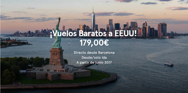 Nueva York desde 331€ ida y vuelta