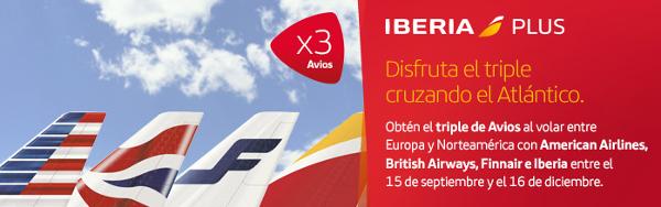 Triple de Avios con Iberia Plus