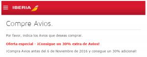 30% adicional al comprar o regalar Avios, Iberia Sendo: hasta 50% de descuento