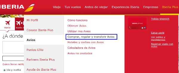 Transferir Avios desde Iberia Plus a British Airways Executive Club