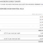 Hilton HHonors: comprar puntos HHonors con 100% extra