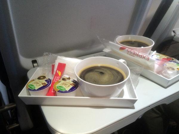 Café clase Business Iberia Express