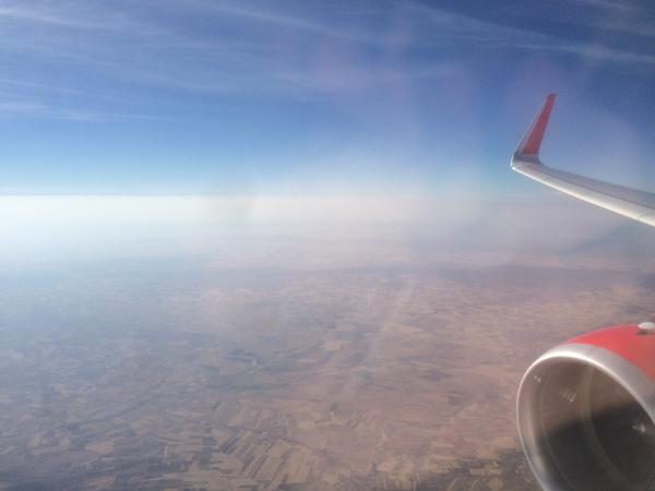 Sobrevolando la península Ibérica