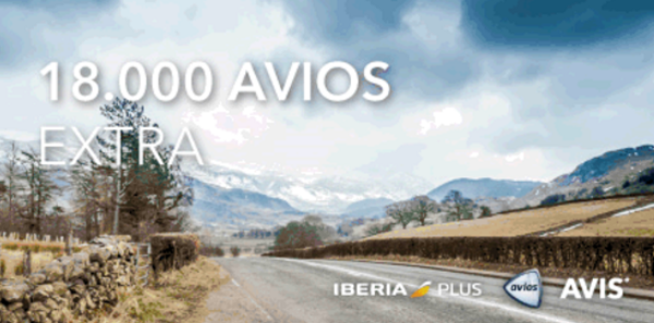 18.000 Avios con Avis.