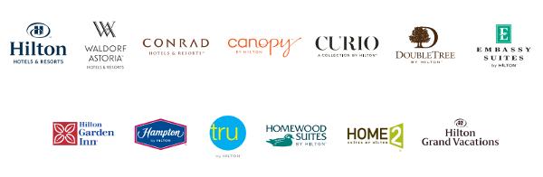 Las 13 marcas de Hilton Hotels.