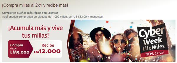 140% adicional al comprar millas LifeMiles de Avianca.