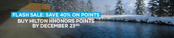 40% de descuento al comprar o regalar puntos HHonors.