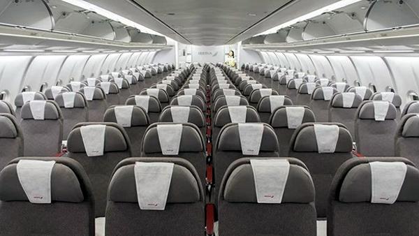 Iberia cabina Turista A330-300.