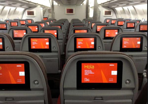 Clase Turista Iberia Airbus A330.