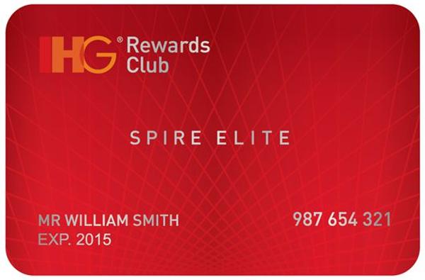 IHG Rewards Club - nivel Spire Elite.