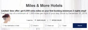 Miles & More: 8.000 millas hotel, 11.400 millas The Economist, 1.500 millas Avis/Hertz