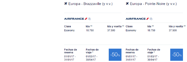 Premios Promo Flying Blue África.