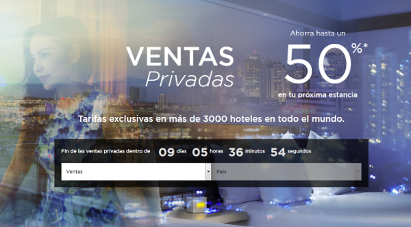 Ventas Privadas Le Club Accor Hotels.