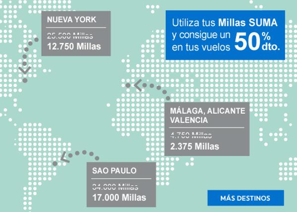 50% de descuento en millas SUMA Air Europa.