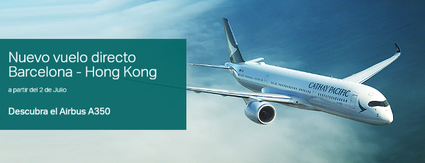 Cathay Pacific Barcelona - Hong Kong.