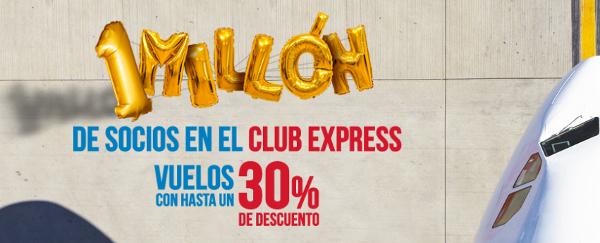 Hasta un 30% de descuento con Iberia Express.