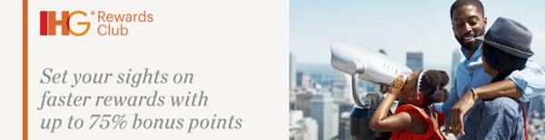 Compra puntos IHG Rewards con un 75% adicional.