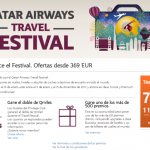(¿Espectaculares?) Ofertas de Qatar Airways: Travel Festival