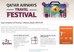 (¿Espectaculares?) Ofertas de Qatar Airways: Travel Festival