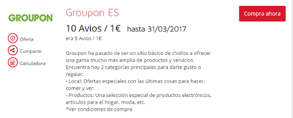 Regresan los Avios con Groupon