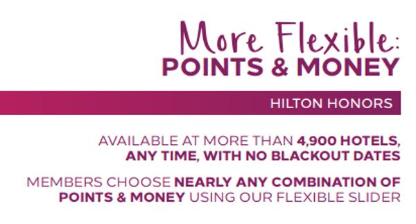 Más flexibilidad: puntos + dinero.