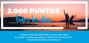 2.000 puntos Hilton Honors por noche en tus estancias hasta el 30 de abril
