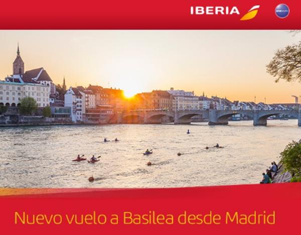 Iberia comenzará a volar a Basilea a partir de finales de marzo.