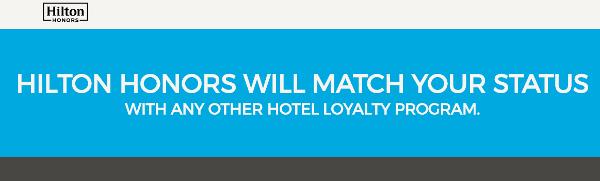 Hilton Honors iguala tu nivel de tarjeta de otra cadena hotelera (status-match)
