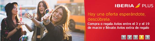 Compra (o regala) Avios Iberia Plus con un X% extra