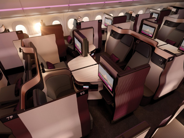 La Qsuite de Qatar Airways.