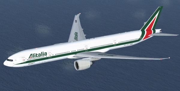 ¿Veremos volar el B777-300ER con los colores de Alitalia?