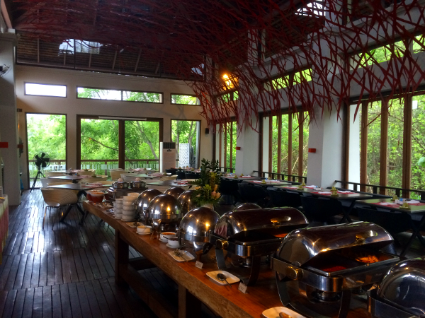 Veranda Chiang Mai: desayuno tipo buffet en The High Room.