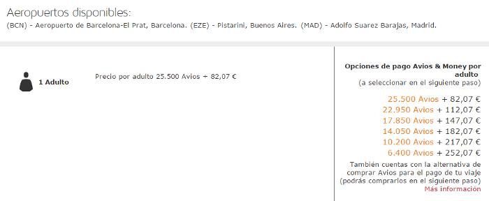 Puntos Avios con LEVEL: Barcelona - Buenos Aires LEVEL Tarifa Azul