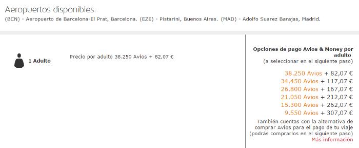 Puntos Avios con LEVEL: Barcelona - Buenos Aires Turista Premium con Avios